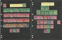 Germany Cancel Study Stamp Collection on 14 Pages, Fancy, Slogan (D), DKZ