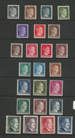 Germany Postage Stamp, #506-527 Mint Hinged, 1941-44 World War II, DKZ