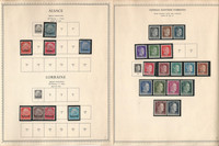 Germany Stamp Collection on 9 Minkus Specialty Pages, War Occuaptions, DKZ