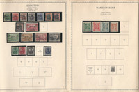 Germany Stamp Collection on 4 Minkus Specialty Pages, Allenstein Schleswig, DKZ