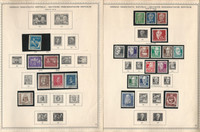Germany DDR Stamp Collection on 24 Minkus Specialty Pages, 1950-60, DKZ