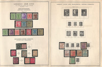 Germany Stamp Collection on 12 Minkus Specialty Pages, Soviet Zone, DKZ