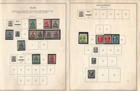 Germany Stamp Collection on 24 Minkus Specialty Pages, Saar 1920-59, DKZ