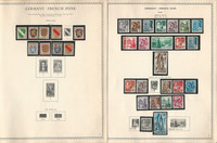 Germany Stamp Collection on 12 Minkus Specialty Pages, Berlin & Zones, DKZ