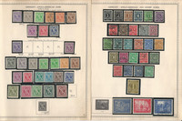 Germany Stamp Collection on 18 Minkus Specialty Pages, 1945-1960, DKZ