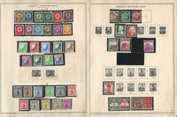Germany Stamp Collection on 16 Minkus Specialty Pages, 1934-45 WW II, DKZ
