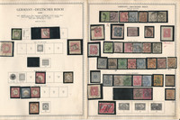 Germany Stamp Collection on 20 Minkus Specialty Pages, 1872-1936, DKZ