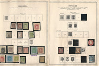 Germany Stamp Collection on 10 Minkus Specialty Pages, States, DKZ
