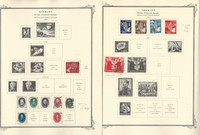 Germany Stamp Collection on 21 Scott Specialty Pages, DDR 1949-55, DKZ
