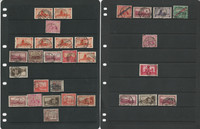 Germany Saar Stamp Collection, Cancel Study on 9 Stock Pages, DKZ