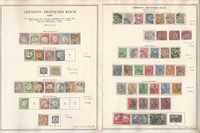 Germany Stamp Collection on 12 Minkus Specialty Pages, SCV $5700, DKZ