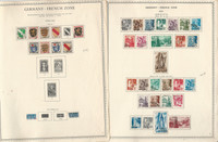 Germany Stamp Collection on 9 Minkus Specialty Pages, French Zone, DKZ