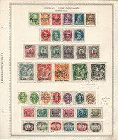 Germany Stamp Collection on Minkus Specialty Page, #256-275, O52-O69, DKZ