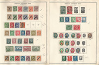 Germany Stamp Collection on 2 Minkus Specialty Pages, 1923-29, DKZ