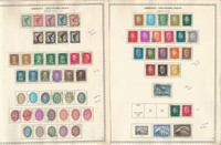 Germany Stamp Collection on 2 Minkus Specialty Pages, 1926-32, DKZ
