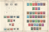 Germany Stamp Collection on 2 Minkus Specialty Pages, 1930-36, DKZ