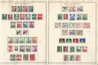 Germany Stamp Collection on 4 Minkus Specialty Pages, 1935-37 3rd Reich, DKZ