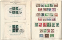 Germany Stamp Collection on 4 Minkus Specialty Pages, 1937-41 3rd Reich, DKZ