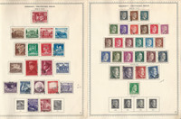 Germany Stamp Collection on 4 Minkus Specialty Pages, 1939-44 3rd Reich, DKZ