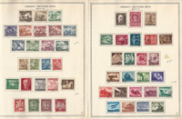 Germany Stamp Collection on 4 Minkus Specialty Pages, 1942-44 3rd Reich, DKZ