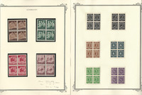 Germany Stamp Collection, Mint NH Blocks, #B253-6, 530-556, 6 Pages, DKZ