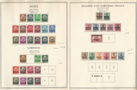 Germany Stamp Collection on 19 Minkus Specialty Pages, Occupations War, DKZ
