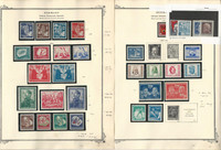 Germany DDR Stamp Collection on 2 Scott Specialty Pages, 1950-52, DKZ