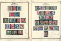 Germany DDR Stamp Collection on 2 Scott Specialty Pages, 1952-53, DKZ