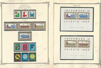 Germany DDR Stamp Collection on 24 Scott Specialty Pages, 1964-68 MNH, DKZ