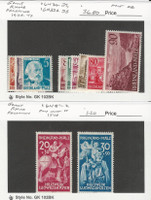 Germany, Postage Stamp, #6N30-2, 6N33A-38, 6NB1-2 Hinged Mint, Rhine, JFZ