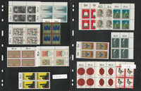 Germany Stamp Collection, Mint NH Blocks, 4 Stock Pages, DKZ