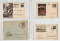 Germany Postcard Cover World War II Lot of 4, Mara, Hamburg Nurnberg (D), DKZ