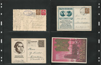 Germany Postcard Cover World War II Lot of 4, Danzig, Luther (M), DKZ