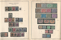 Germany Stamp Collection on 7 Minkus Specialty Pgs, Poland Occupation, DKZ