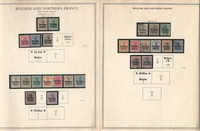 Germany Stamp Collection on 2 Minkus Specialty, Belgium Occupation, DKZ