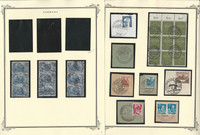 Germany Stamp Collection on 7 Pages, Interesting Lot of Postmarks, DKZ