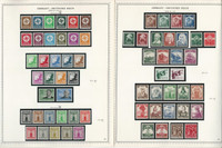 Germany Stamp Collection on 2 Minkus Specialty Pages 1934-35 3d Reich, JFZ