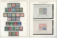Germany Stamp Collection on 2 Minkus Specialty Pages 1935-36 3d Reich, JFZ