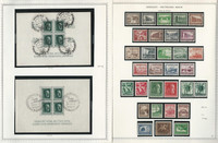 Germany Stamp Collection on 2 Minkus Specialty Pages 1937-38 3d Reich, JFZ