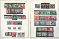 Germany Stamp Collection on 2 Minkus Specialty Pages 1938-41 3d Reich, JFZ