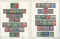 Germany Stamp Collection on 2 Minkus Specialty Pages 1939-41 3d Reich, JFZ