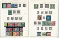 Germany Stamp Collection on 2 Minkus Specialty Pages 1949-52, JFZ