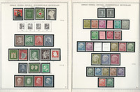 Germany Stamp Collection on 2 Minkus Specialty Pages 1953-58, JFZ