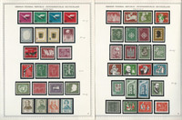 Germany Stamp Collection on 2 Minkus Specialty Pages 1955-57, JFZ