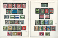 Germany Stamp Collection on 8 Minkus Specialty Pages 1957-62, JFZ