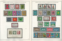 Germany Stamp Collection on 12 Minkus Specialty Pages 1968-75, JFZ