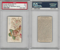 N19 Allen & Ginter, Pirates of the Spanish Main, #1 Pierre Francois, PSA 3 VG