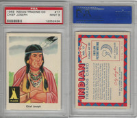 1959 Fleer, Indian Trading, #17 Chief Joseph, Nez Perce, PSA 9 Mint