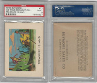 1960 Buymore W527, Treasure Island, Pirate, #27 We Thus Brought, PSA 9 Mint