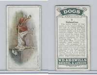 W62-128 Wills Tobacco, Dogs, 1937, #9 Dalmatian